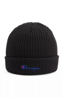 Type Caps Champion Merino Wool Blend Script Logo Beanie
