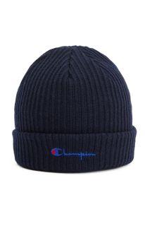 Type Caps Champion Merino Wool Blend Script Logo Beanie