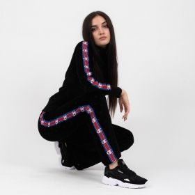 Type Pants Champion Wmns Burnout Logo Effect Skinny Fit Flared Velour Joggers