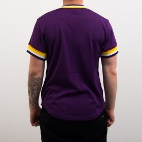 Type Shirts Mitchell & Ness NBA Los Angeles Lakers Special Script Mesh V-Neck T-Shirt