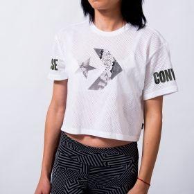 Тениска Converse Wmns Floral Fill Star Chevron Crop Top